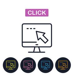 Click icon computer and mouse cursor vector