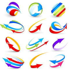 collection colour arrows vector image