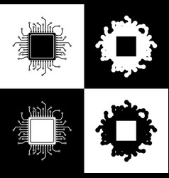 cpu microprocessor black and vector image