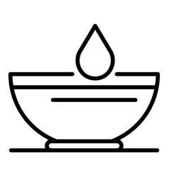 Cream tube dye plate icon outline style vector
