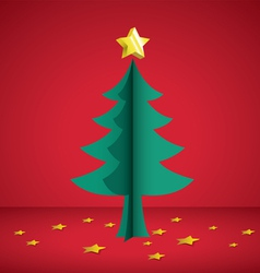 Cristmas tree paper cutting vector
