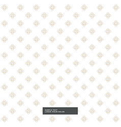 Cute flower pattern background vector