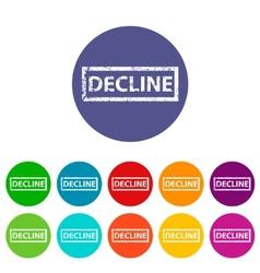 Decline flat icon vector