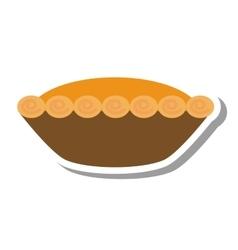 Delicious pumpkin pie icon vector