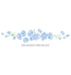 Design element - blue sakura blossom vector