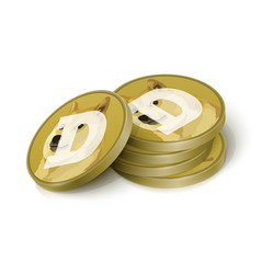 Dogecoin cryptocurrency tokens vector