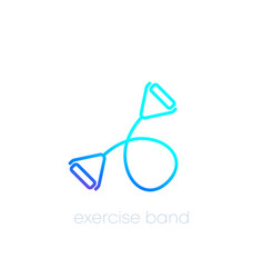 Exercise bands icon line vector