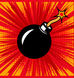 explosion bomb in comic style design element vector image