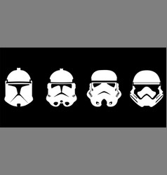 Face collection storm trooper vector