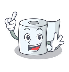 Finger tissue character cartoon style vector