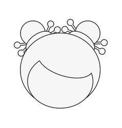 Geisha cartoon avatar vector