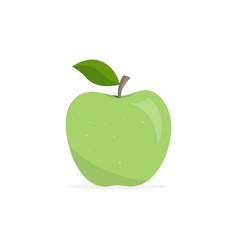 Green apple appetizing fruit vector