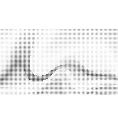 halftone abstract waves background vector image vector image