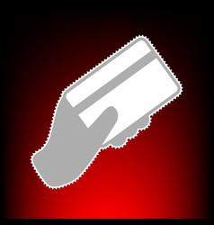 hand hing a credit card vector image