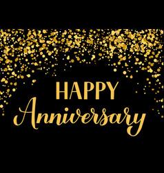 happy anniversary handwritten celebration banner vector image