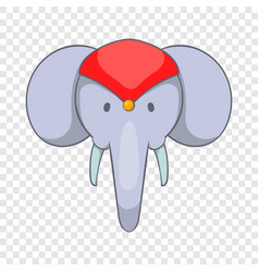 head of decorated elephant icon cartoon style vector image