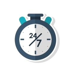 Isolated chronometer of call center concept vector