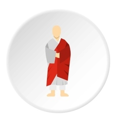 Korean monk icon flat style vector