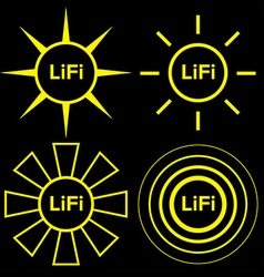 LiFi logo set vector