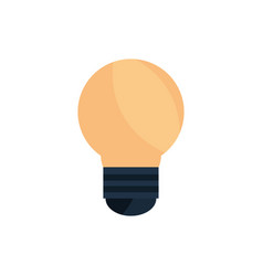 light bulb creativity office work business icon vector image