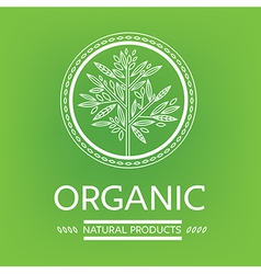 logo organic 05 vector image