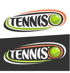 Logos for tennis sport vector