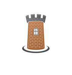 medieval tower decorative isolated retro fort vector image