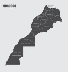 Morocco regions map vector