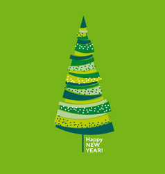 naive decorative abstract isolated christmas tree vector image