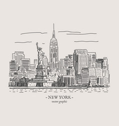 New york vintage vector