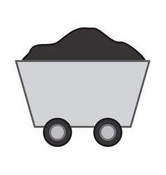 ore cart vector image