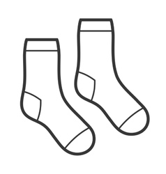 Pair of White Socks Icon vector