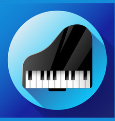 Piano icon - a symbol of classical music chamber vector