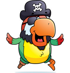 pirate parrot running vector image