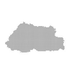 pixel map of bhutan dotted map of bhutan isolated vector image