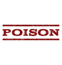 Poison Watermark Stamp vector image