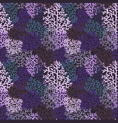 purple corals seamless pattern vector image