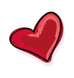 Red heart love vector