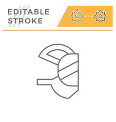 Respirator mask line icon vector