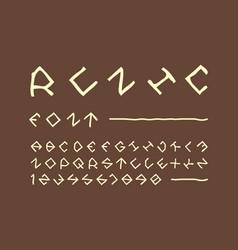 runic font alphabet vector image