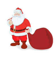 santa claus with a big bag vector image