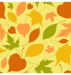 Seamless pattern with stylized silhouette leaves vector