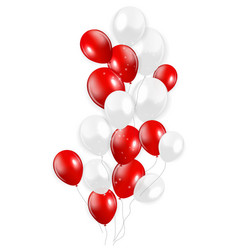Set red balloons vector