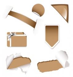 shop sale elements brown vector image