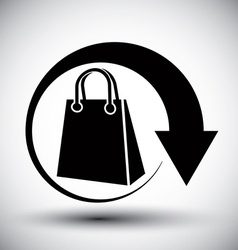 Shopping bag delivery simple single color icon vector image