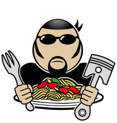 Spaghetti rider vector