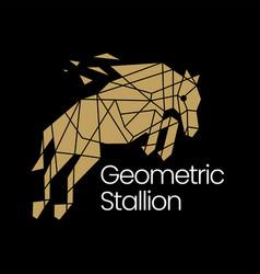 Stallion horse geometric polygonal logo icon vector