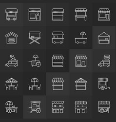 street food minimal icons - concept signs vector image vector image