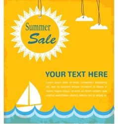 summer sale infographic vector image