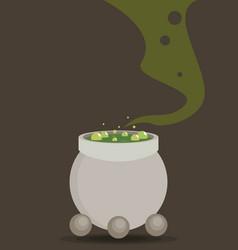 Symbols cauldron icon halloween concept vector